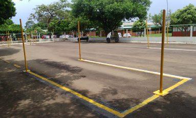 Detran realiza obras de manutenção nas pista de aula e exames práticos