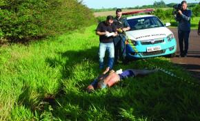 Cadáver achado em rodovia, era de homem supostamente envolvido em crime