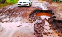 Estradas rurais e ruas da periferia de Itaquirai são danificadas pelas chuvas