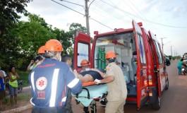 Mulher morre após cair de moto em Coxim