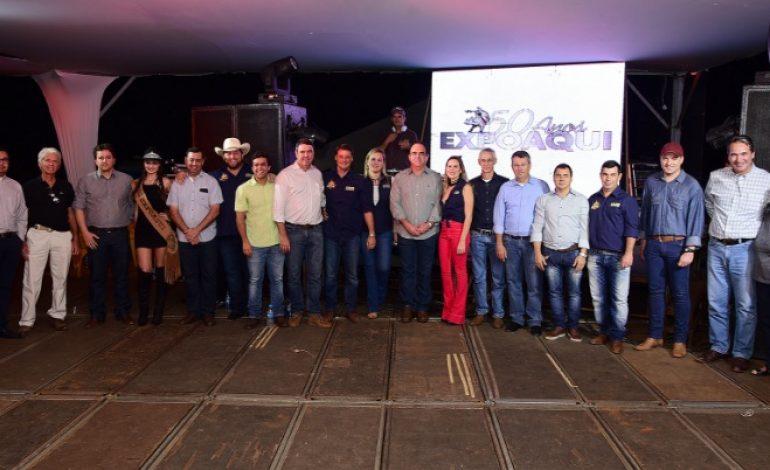 Abertura da 50ª Expoaqui celebra o agronegócio da região pantaneira