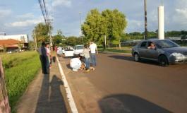 Carro atropela idoso na avenida Mato Grosso