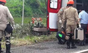 Funcionário da Sanesul cai em ribanceira na BR 262 após desviar de anta