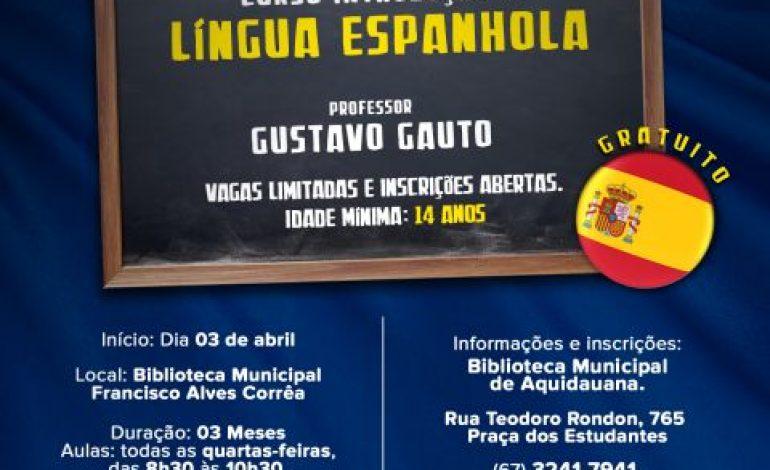 Em Aquidauana, biblioteca municipal abre vagas para curso gratuito de espanhol