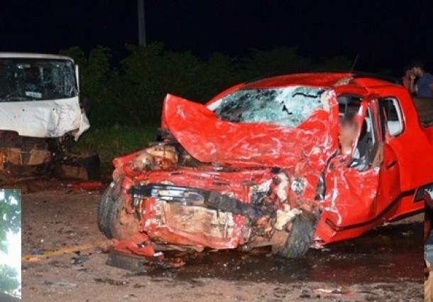 Acidente envolvendo três veículos deixa dois mortos na MS-141