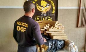DOF apreende 144 kg de maconha na MS-162; Dupla foge após perseguição