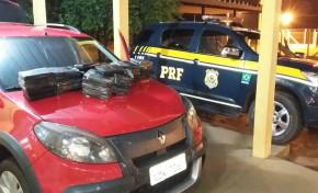 PRF prende dois homens com 57kg de droga com destino a DF e RJ