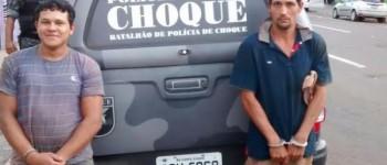 Rotac/Choque prende dupla que ajudou em furto e abate de vaca