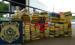 PRF apreende 171 kg de cocaína escondida em caminhão de mudança