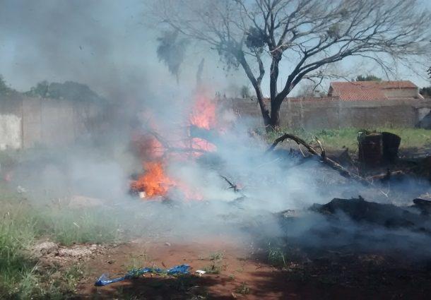 Moradora de Aquidauana é multada por atear fogo em terreno