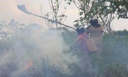 Bombeiros controlam incêndio na Afonso Pena
