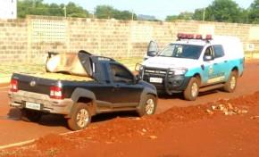 PM encontrada veículo abandonado com quase 1 tonelada de maconha