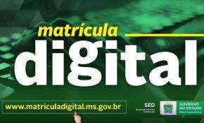 Matrícula Digital 2019 será lançada nesta quarta-feira em MS