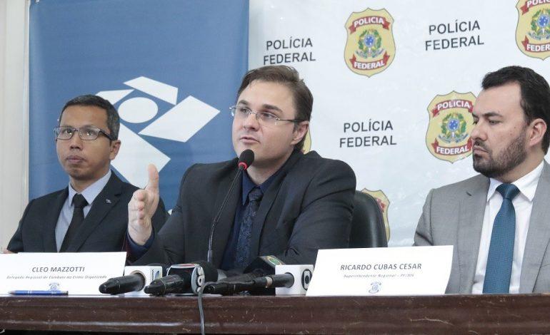 PF concede entrevista coletiva sobre mandados cumpridos em Mato Grosso do Sul