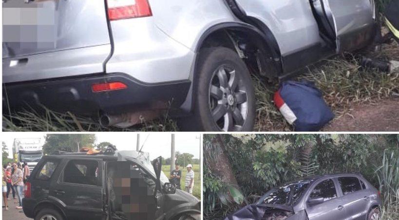 Grave acidente em Anastácio envolvendo três veículos deixa 3 pessoas mortas e oito feridas