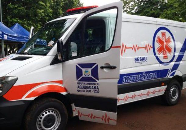 Saúde de Aquidauana ganha ambulância 0km para a frota