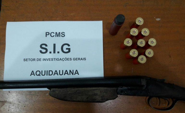 Homem é preso pela Polícia Civil de Aquidauana por posse de arma de fogo