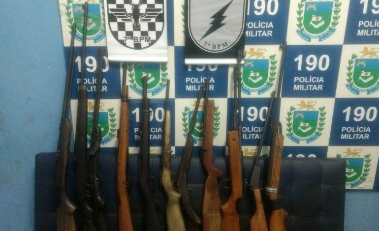 Trabalho conjunto da ROTAI e GETAM recupera 11 armas de fogo em Aquidauana