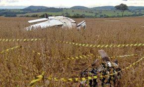 Aeronave cai em Camapuã e duas pessoas ficam feridas