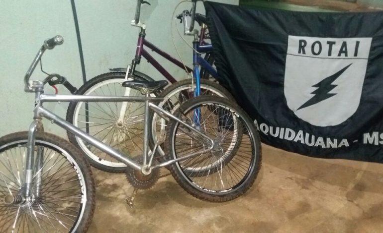 ROTAI prende em flagrante jovem que fazia arrastão de bikes em Aquidauana