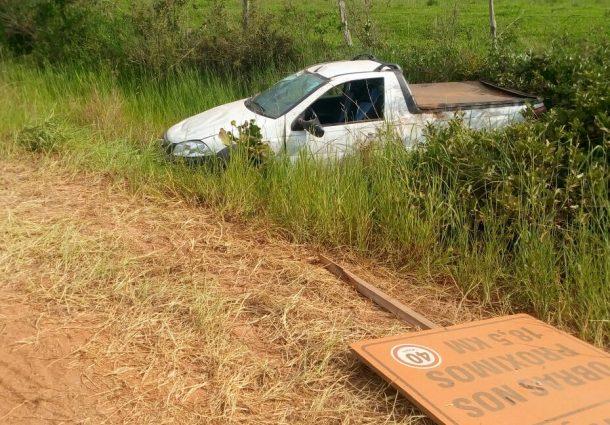 Veículo capota na MS-450 entre Camisão e Piraputanga; trecho requer atenção