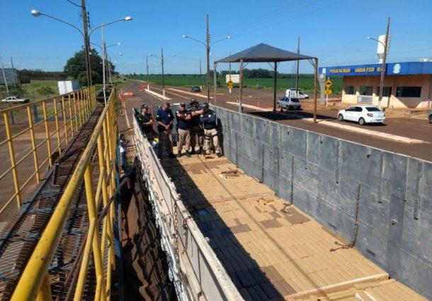 Carregamento de maconha com destino ao RJ é apreendido na fronteira