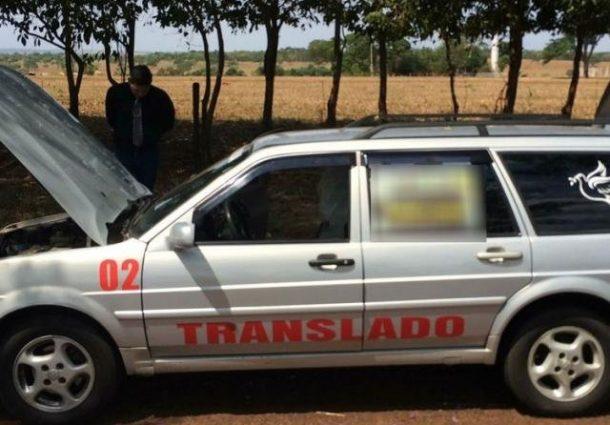 Veículo funerário de MS é flagrado com maconha e haxixe em MG