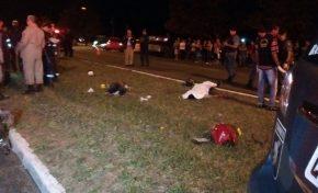 Após roubo, dois assaltantes morrem na fuga ao cair de moto