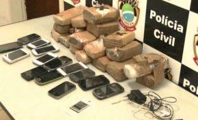 Tabletes de maconha e celulares são arremessados em presídio