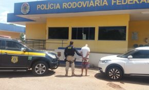 PRF apreende veículo com registro de estelionato em Miranda