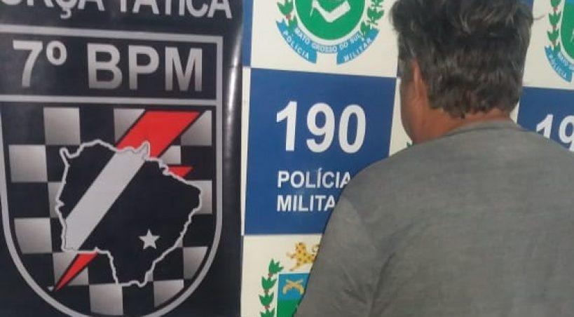 Suspeito de abusar de sobrinha de 2 anos é preso pela Força Tática em Anastácio