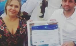 PRESIDENTE FABIANO LOPES RECEBE CERTIFICADO CNC