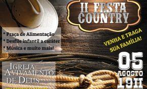 Avivamento de Deus promove II Festa Country neste sábado em Aquidauana