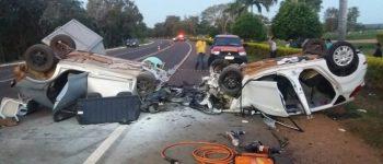 Grave acidente mata duas pessoas e fere dois na BR-262 em Miranda