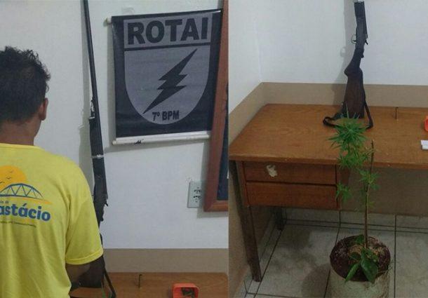 ROTAI frustra planos de adolescente cultivar maconha em Anastácio