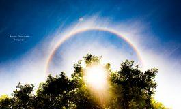 Fenômeno em volta do sol encanta moradores de Aquidauana e Anastácio