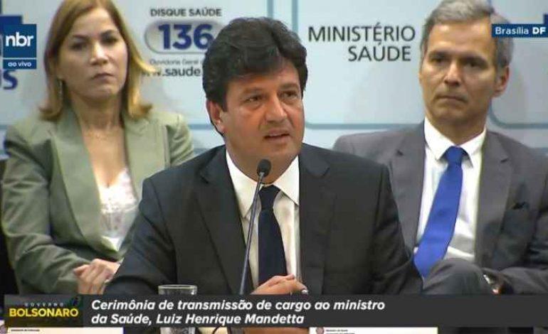 Ministro Luiz Henrique Mandetta anuncia que irá rever fórmula do Mais Médicos