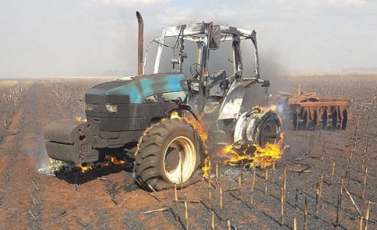 Incêndio em Maracaju queima 30 hectares de plantação e fere uma pessoa