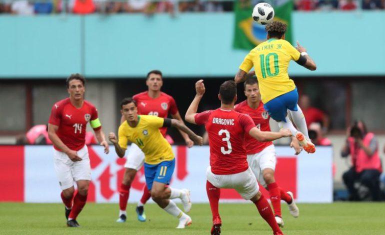 Brasil vence de 3×0 a Áustria, antes de ir para a Rússia