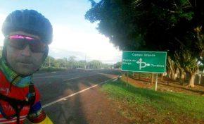 Aquidauanense vai de bike até a Capital e mostra que ciclismo é estilo de vida