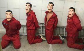 Youtuber é preso após pegadinha vestido de personagem de La Casa De Papel