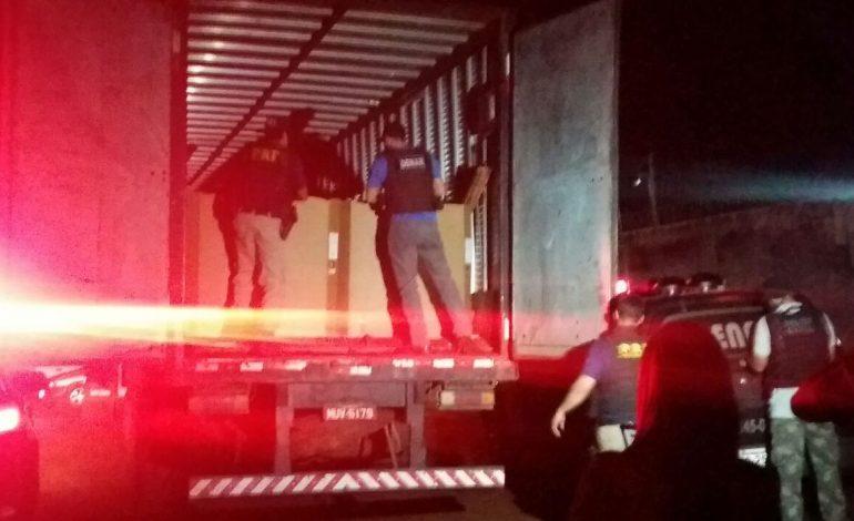 PRF apreende mais de uma tonelada de maconha que seria levada para o Ceará