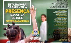 Secretaria de Educação de Aquidauana abre matrículas para a rede municipal