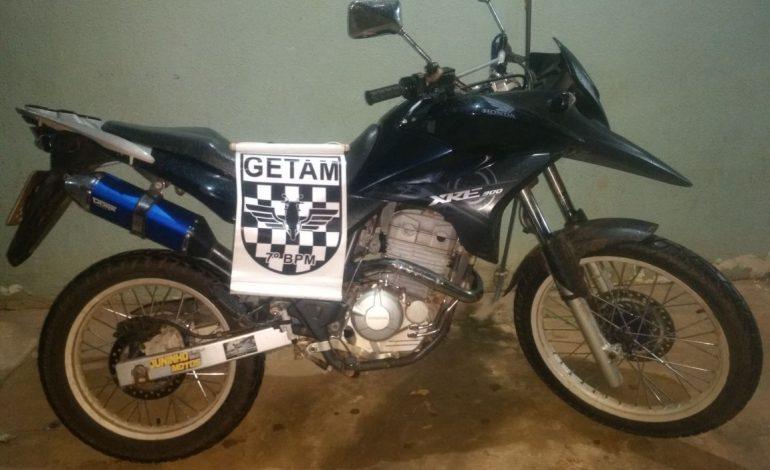 GETAM recupera motocicleta e tira usuário de drogas de circulação
