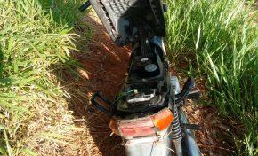 Polícia Militar recupera moto furtada em Aquidauana