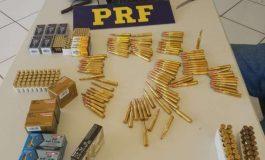 Munições de vários calibres são apreendidas pela Polícia Rodoviária Federal em MS