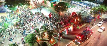 Papai Noel chega em Aquidauana no lançamento da Campanha Natal da Esperança