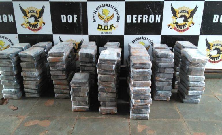 DOF faz uma das maiores apreensões de cocaína do ano no Brasil