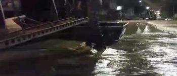 Batalhão de Engenharia em Aquidauana monta ponte passadeira por conta da cheia do rio