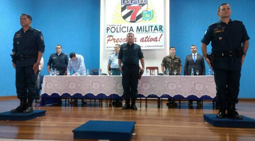Com presença de comandante-geral da PM/MS, 7° BPM realiza passagem de comando